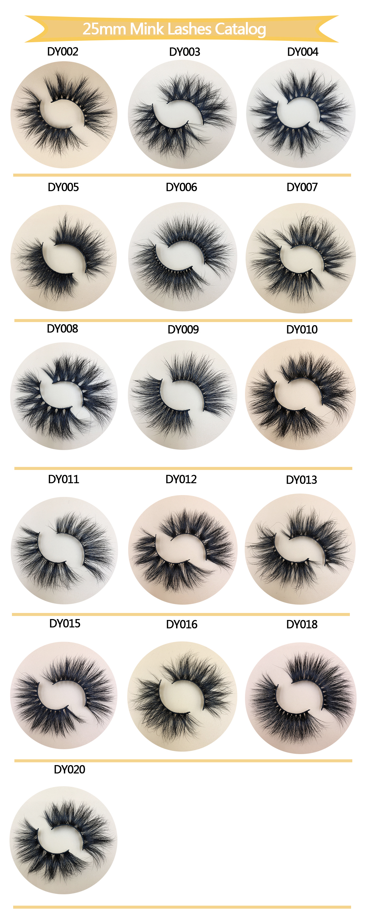 New DY Serise 25mm Mink Lashes 1