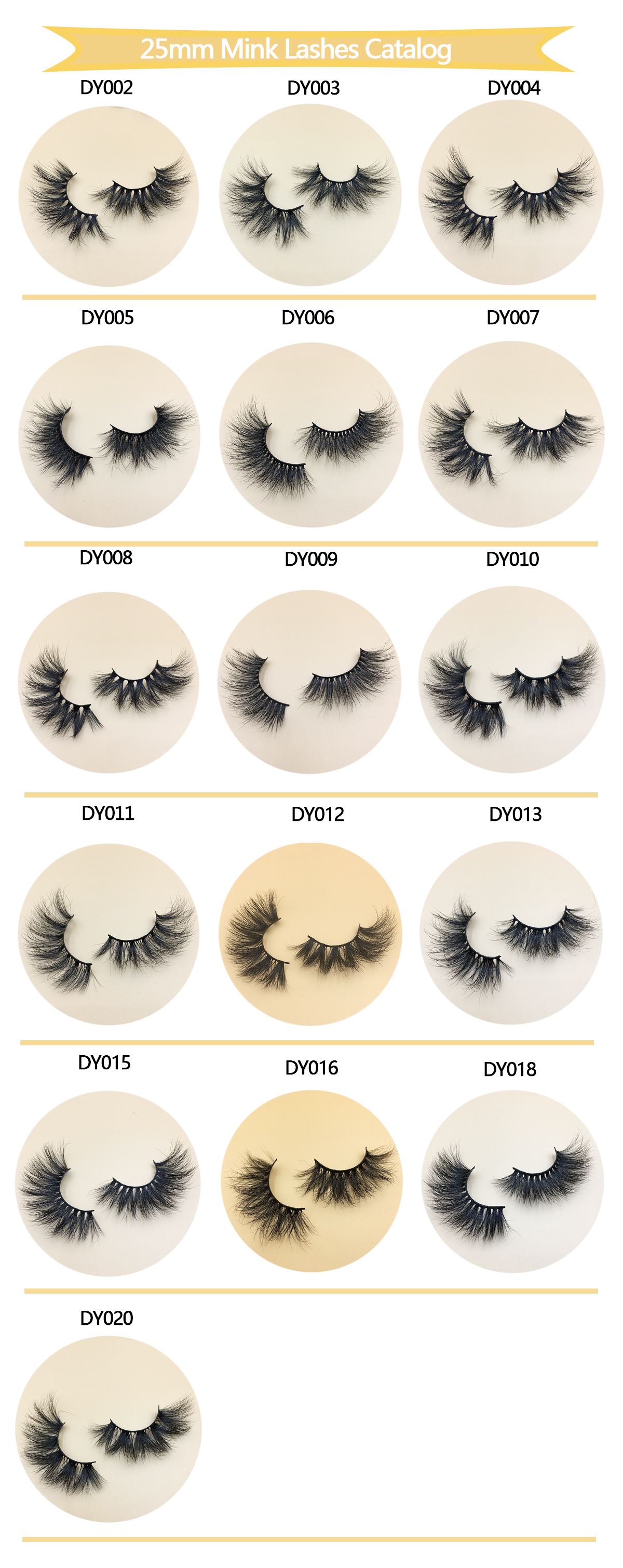 New DY Serise 25mm Mink Lashes 2