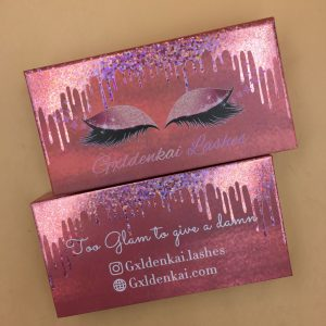 Rose Color lash boxes design