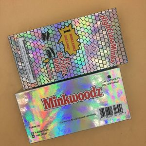 holographic Lash Wood Packaging Custom eyelash boxes