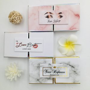 Customized eyelash box