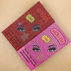 Glitter lashwood mink eyelashes packaging box
