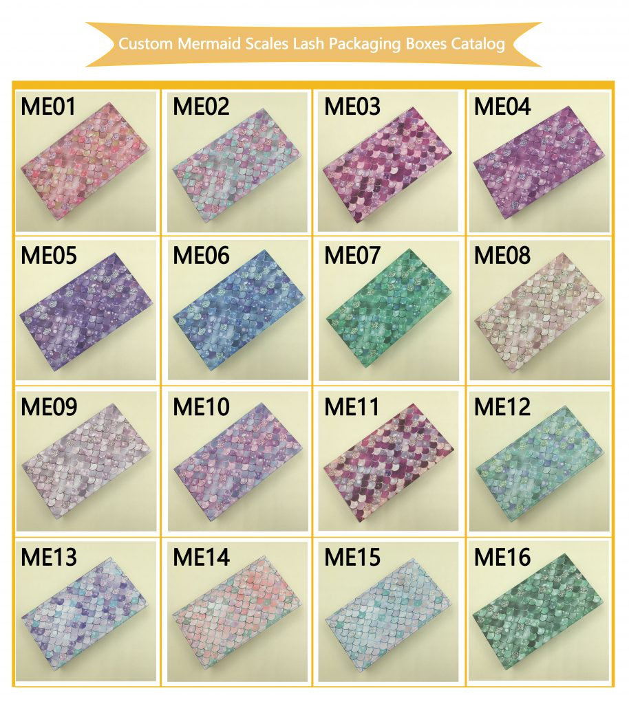 Custom Mermaid Scales Lash Packaging Boxes Catalog